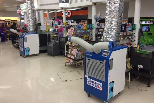 Enough machines to cool a supermarket